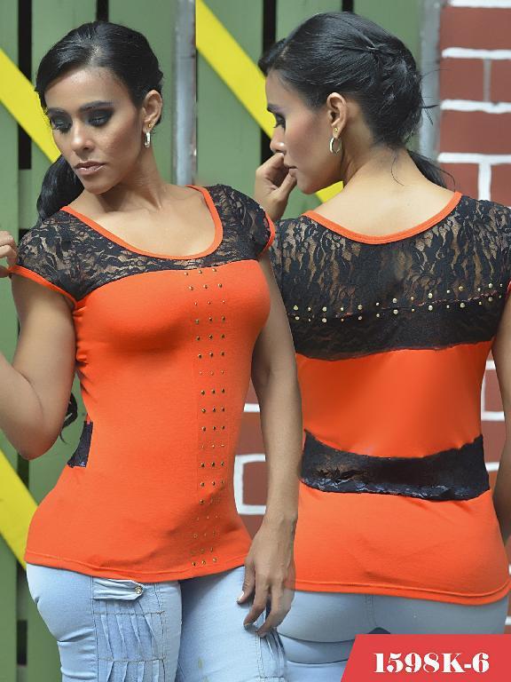 Blusas Moda Colombiana Kpriccio - Ref. 233 -1598-6 Naranja