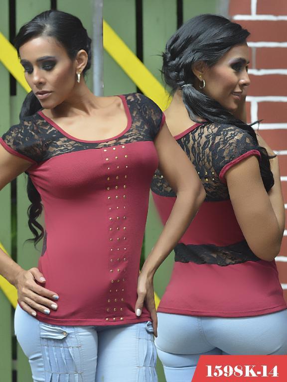 Blusas Moda Colombiana Kpriccio - Ref. 233 -1598-14 Vinotinto