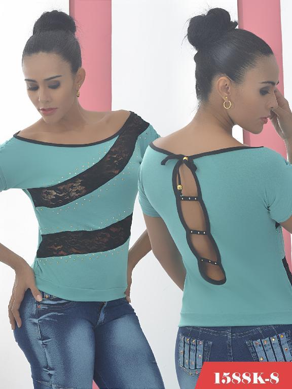 Blusa Moda Colombiana Kpriccio  - Ref. 233 -1588 8 Verde