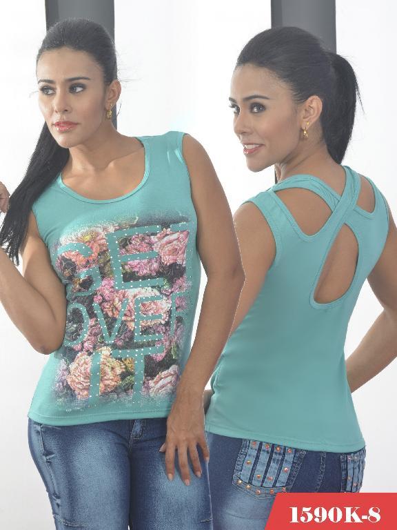 Blusa Moda Colombiana Kpriccio  - Ref. 233 -1590 8 Verde