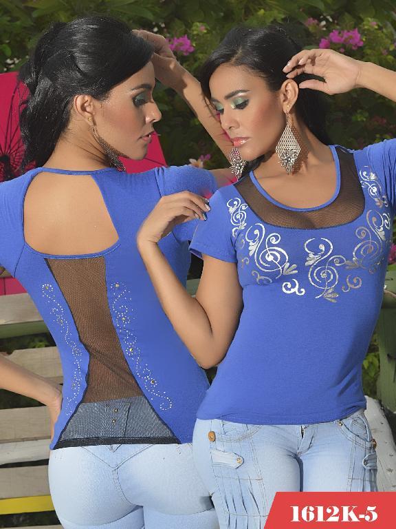 Blusas Moda Colombiana Kpriccio - Ref. 233 -1612 5 Azul