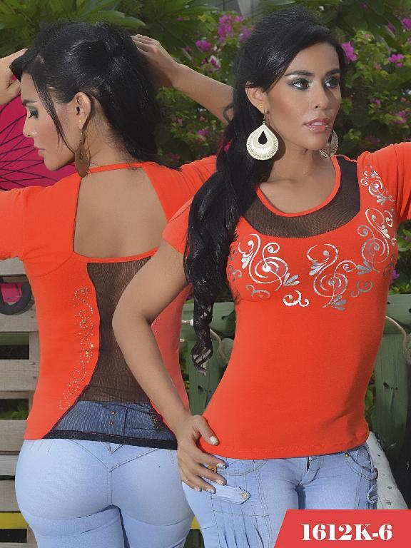 Blusas Moda Colombiana Kpriccio - Ref. 233 -1612 6 Naranja