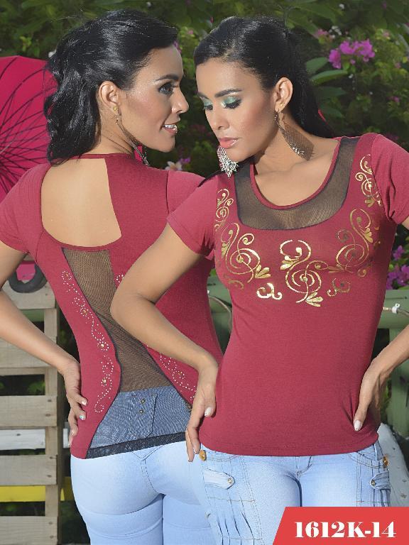 Blusas Moda Colombiana Kpriccio - Ref. 233 -1612 14 Vinotinto