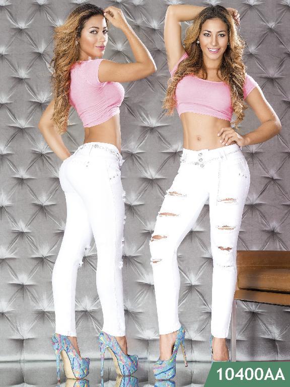 Jeans Levantacola Colombiano Studio AA  - Ref. 235 -10400 AA