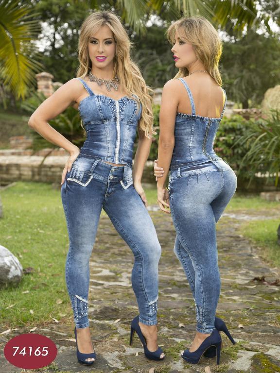 Conjunto Moda Yes Brazil - Ref. 113 -7416 Azul