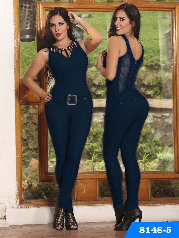 Enterizo Levantacola Colombiano Yes Brazil  - Ref. 113 -8148-5 Azul