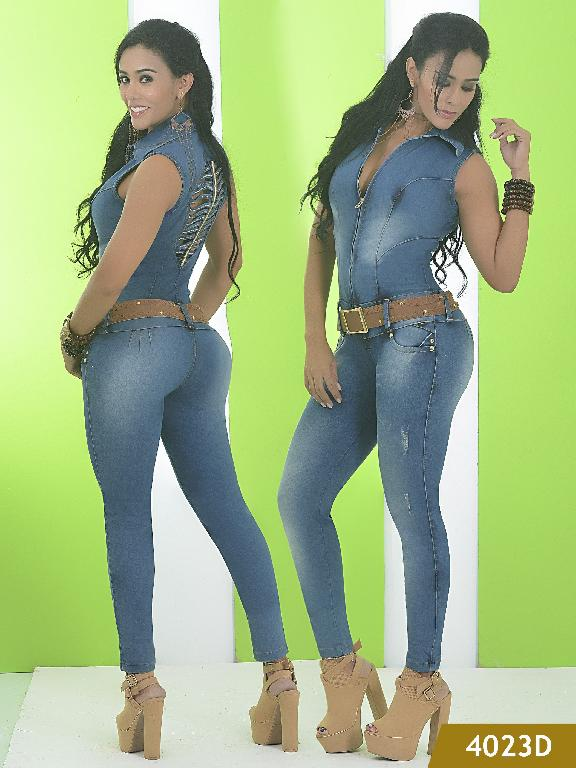 colombian Sexy Butt Lifting JumpSuit Blue Dubay  - Ref. 120 -4023 D