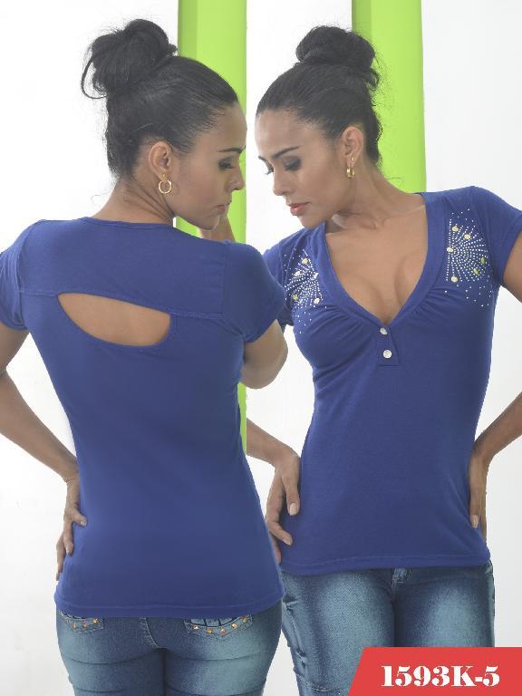 Blusas Moda Colombiana Kpriccio - Ref. 233 -1593-5 Azul