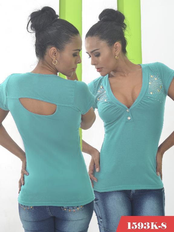 Blusas Moda Colombiana Kpriccio - Ref. 233 -1593-8 Verde