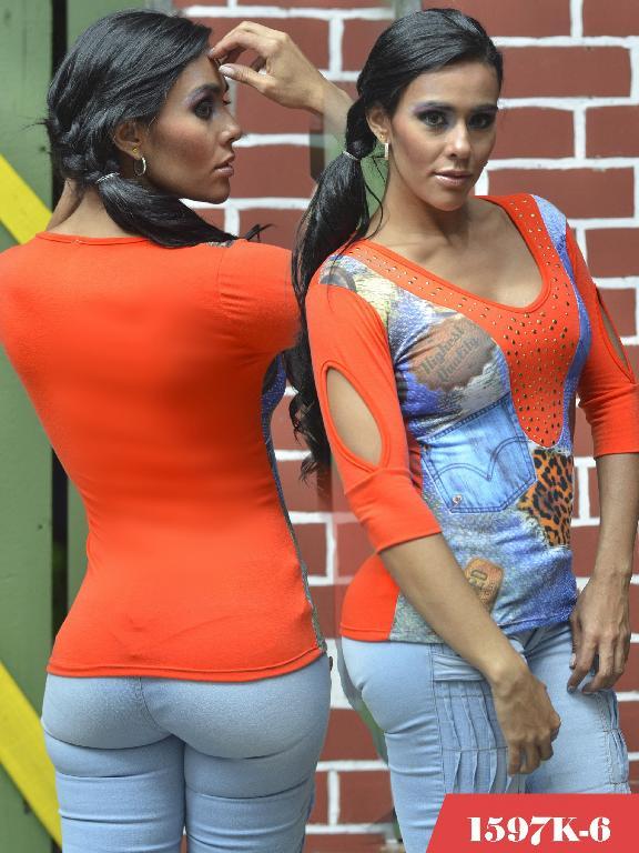 Blusas Moda Colombiana Kpriccio - Ref. 233 -1597-6 Naranja