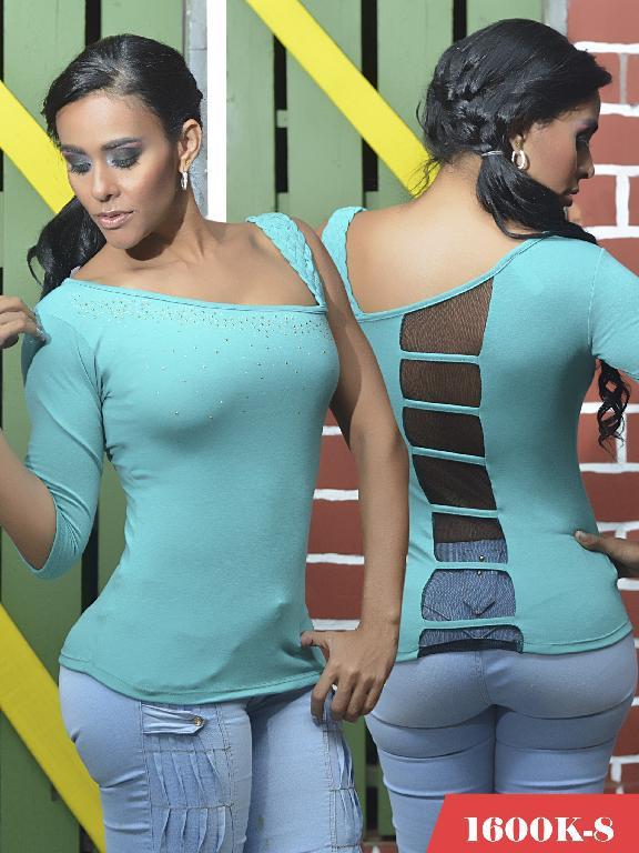 Blusas Moda Colombiana Kpriccio - Ref. 233 -1600 8 Verde