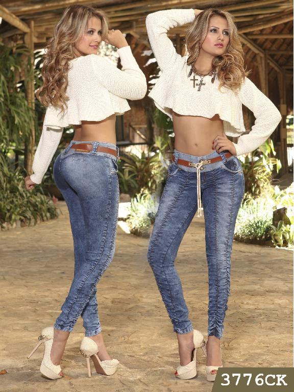 Jeans Levantacola Colombiano Cokette - Ref. 119 -3776