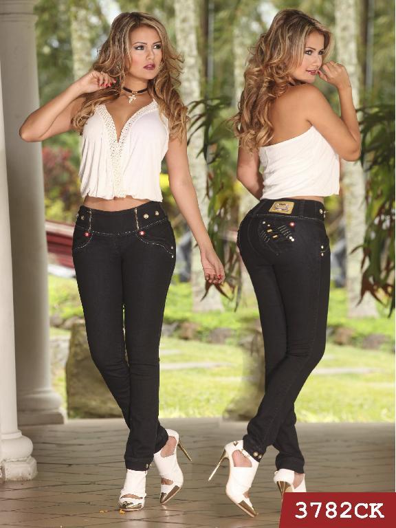 Jeans Levantacola Colombiano Cokette - Ref. 119 -3782