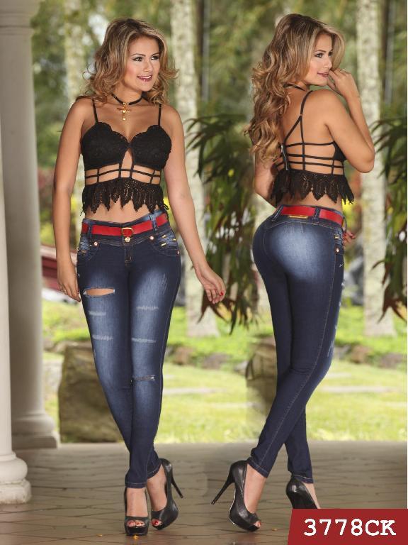 Jeans Levantacola Colombiano Cokette - Ref. 119 -3778