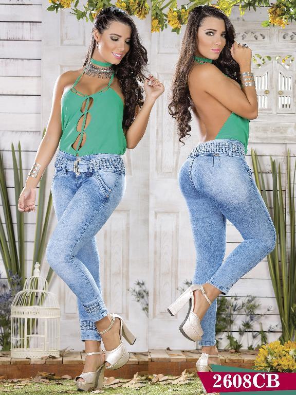 Jeans Levantacola Colombiano Capellini Boutique - Ref. 106 -2608 CB