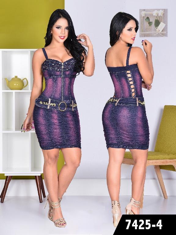 Vestido Moda colombiano Yes Brazil  - Ref. 113 -7425 MORADO