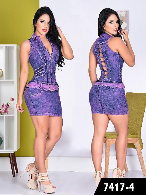 Vestido Moda Yes Brazil - Ref. 113 -7417 Morado
