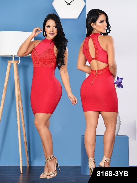 Vestido Colombiano Yes Brazil - Ref. 113 -8168 Rojo