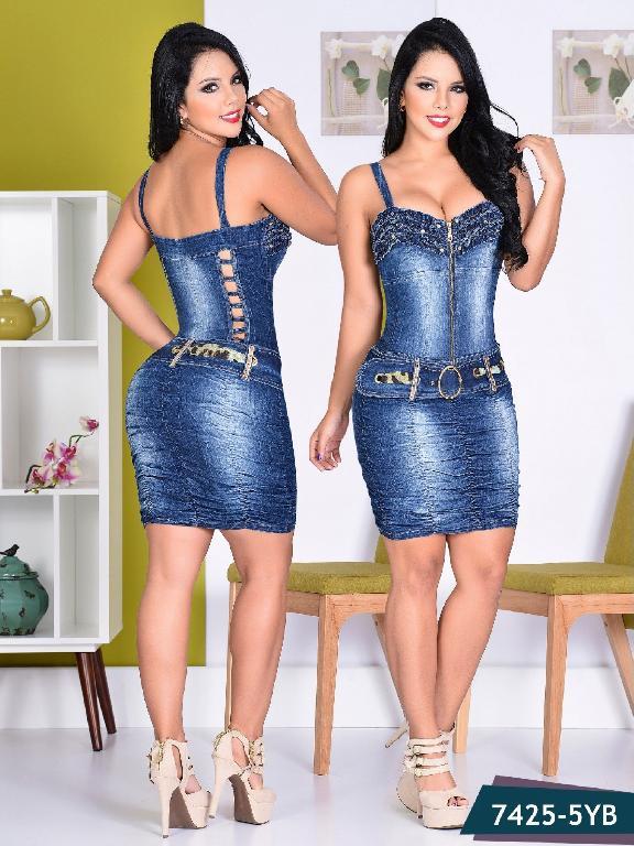 Vestido Moda colombiano Yes Brazil  - Ref. 113 -7425-5 AZUL