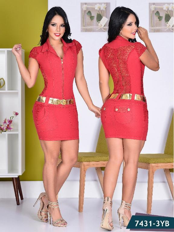 Vestido Colombiano Yes Brazil  - Ref. 113 -7431 Rojo