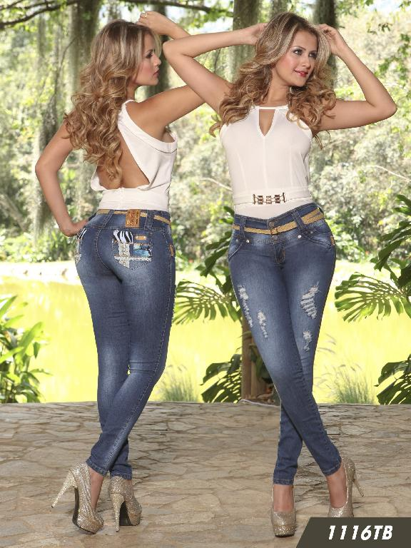 Jeans Levantacola Colombiano Thaxx Boutique  - Ref. 119 -1116