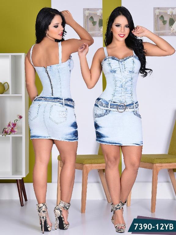 Vestido Moda Yes Brazil - Ref. 113 -7390 Azul Claro