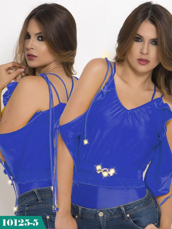 Blusa Moda Colombiana Cereza - Ref. 111 -10125-5 Azul