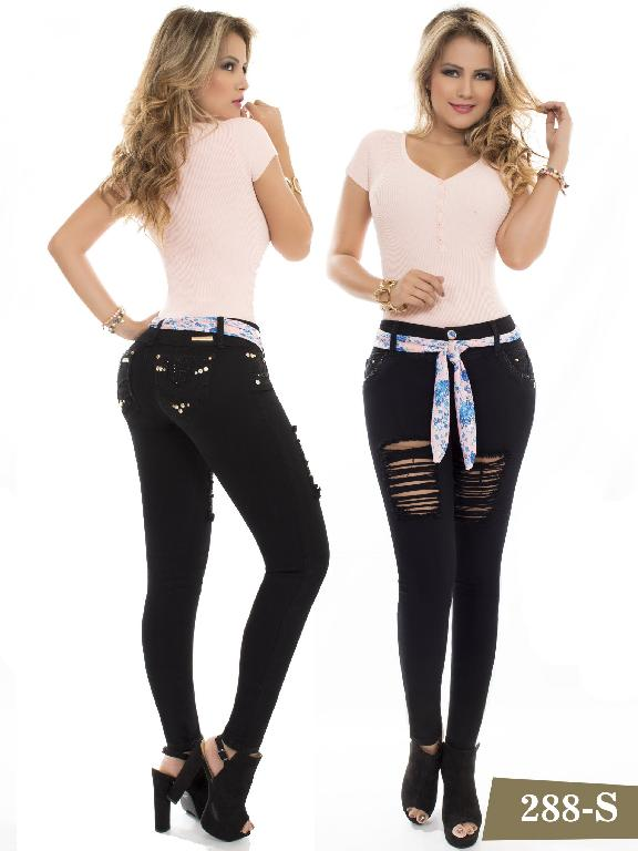 Jeans Levantacola Colombiano Duchess