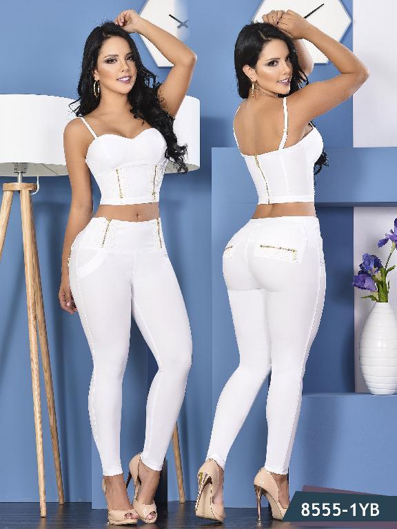 Conjunto Levantacola colombiano Yes Brazil  - Ref. 113 -8555 Blanco