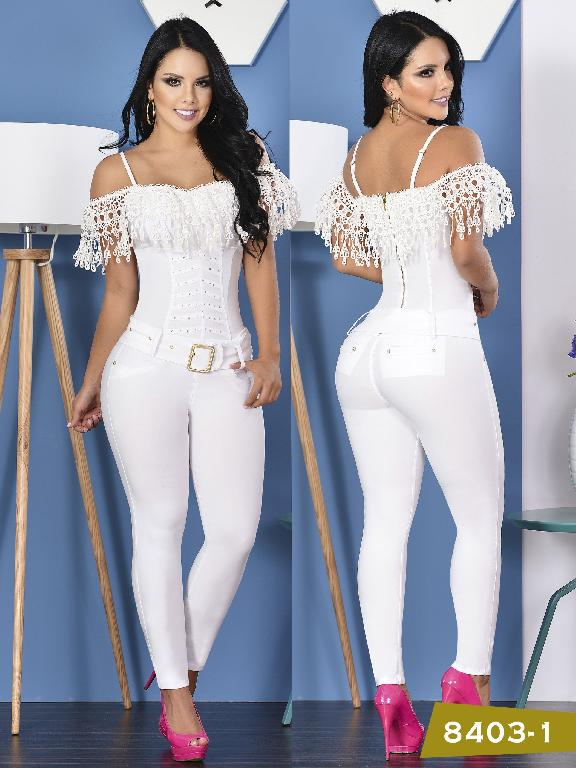 Enterizo Levantacola Colombiano Yes Brazil  - Ref. 113 -8403 Blanco