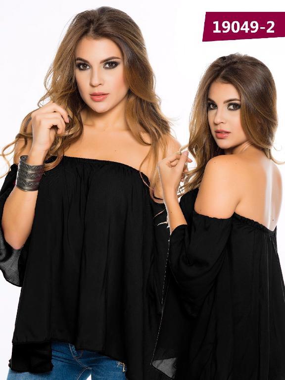Blusa Moda Colombiana Cereza Negro - Ref. 111 -19049-2 Negro