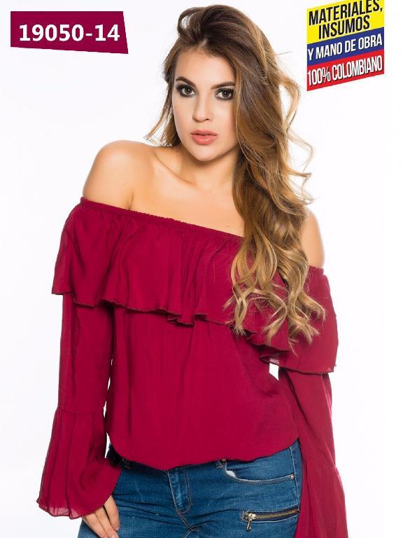 Blusa Moda Colombiana Cereza Vinotinto - Ref. 111 -19050-14 Vinotinto