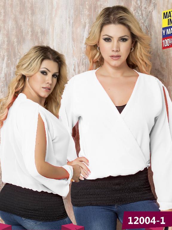Blusa Moda colombiana Cereza  - Ref. 111 -12004-1 Blanco
