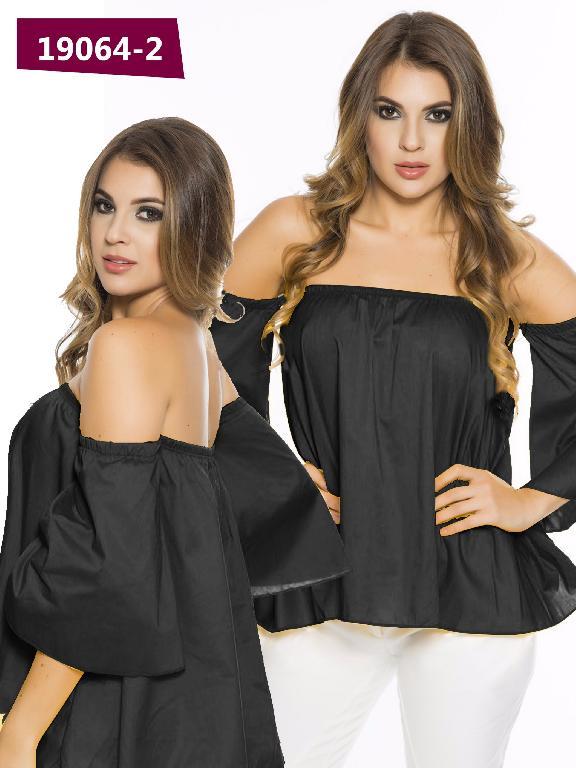 Blusa Moda Colombiana Cereza Negro - Ref. 111 -19064-2 Negro