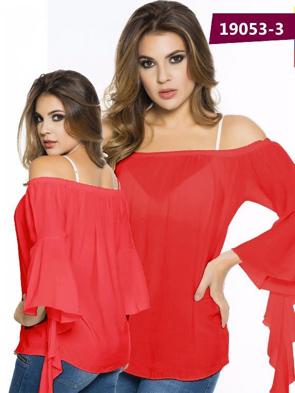 Blusa Moda Colombiana Cereza Rojo - Ref. 111 -19053-3 Rojo