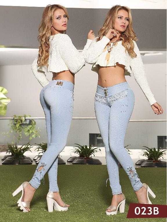 Jeans Levantacola Colombiano Bambu - Ref. 241 -023