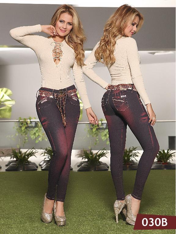 Jeans Levantacola Colombiano Bambu - Ref. 241 -030 B