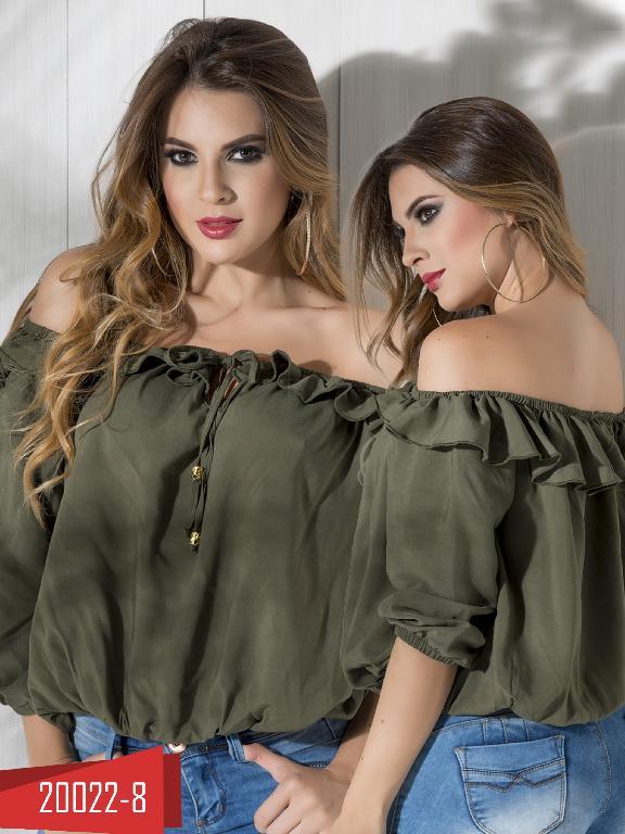 Blusa Moda Colombiana Cereza Verde - Ref. 111 -20022-8 Verde