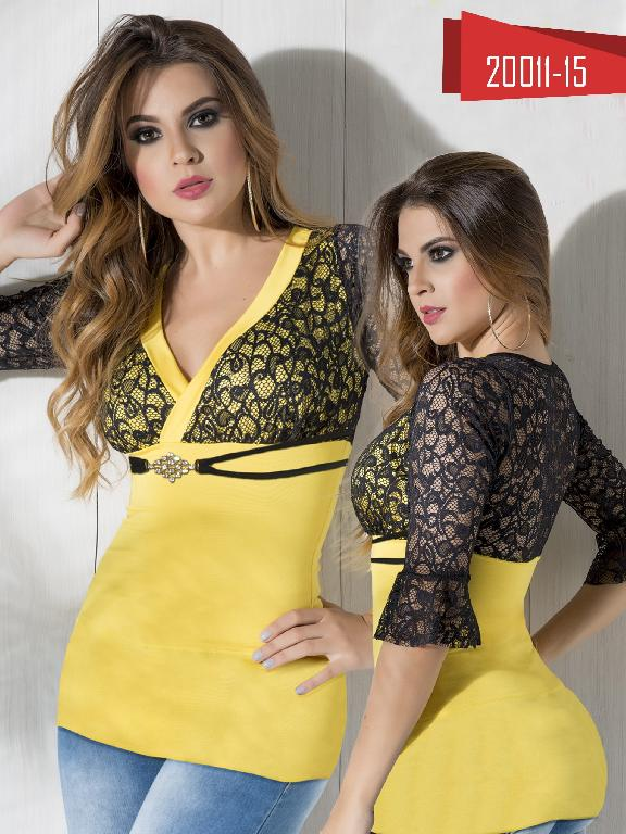 Blusa Moda Colombiana Cereza Amarilla - Ref. 111 -20011-15 Amarillo