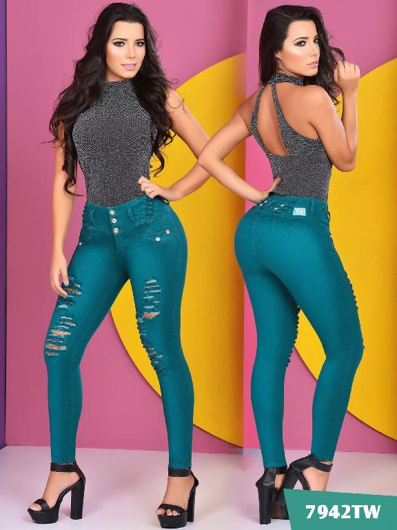 Jeans Levantacola Colombiano Top Women  - Ref. 123 -7942 TW