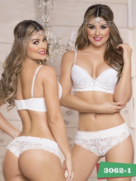 Conjunto intimo Thaxx  - Ref. 119 -3062-1 Blanco