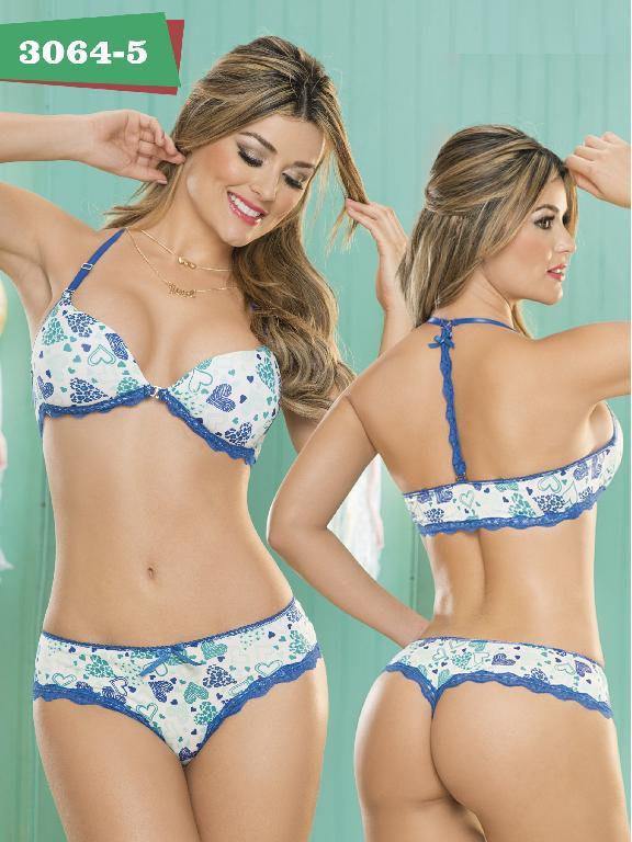 Conjunto Ropa Intima Thaxx - Ref. 119 -3064-5 Azul