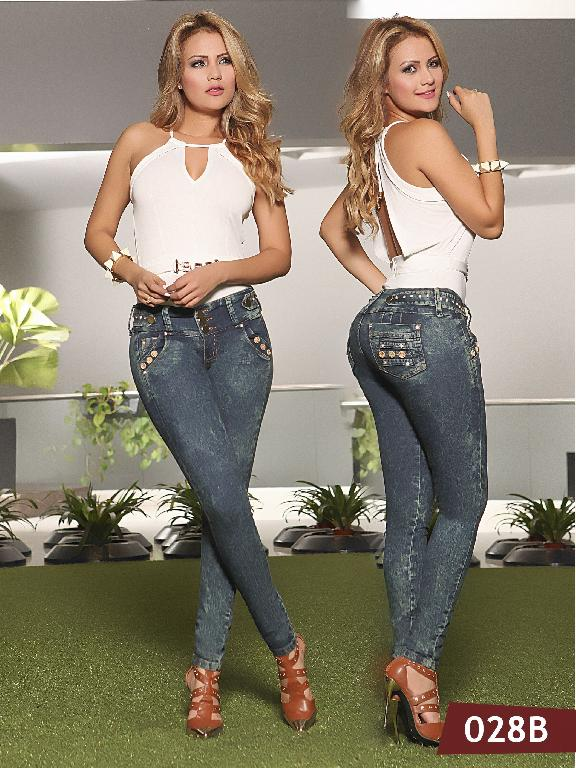 Colombian Butt Lifting Jeans Blue  Bambu - Ref. 241 -028