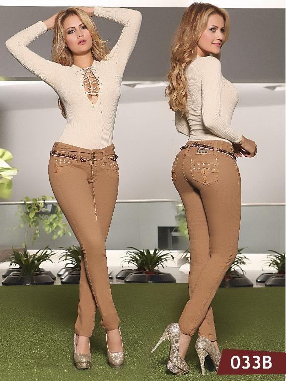Jeans Levantacola Colombiano Bambu - Ref. 241 -033