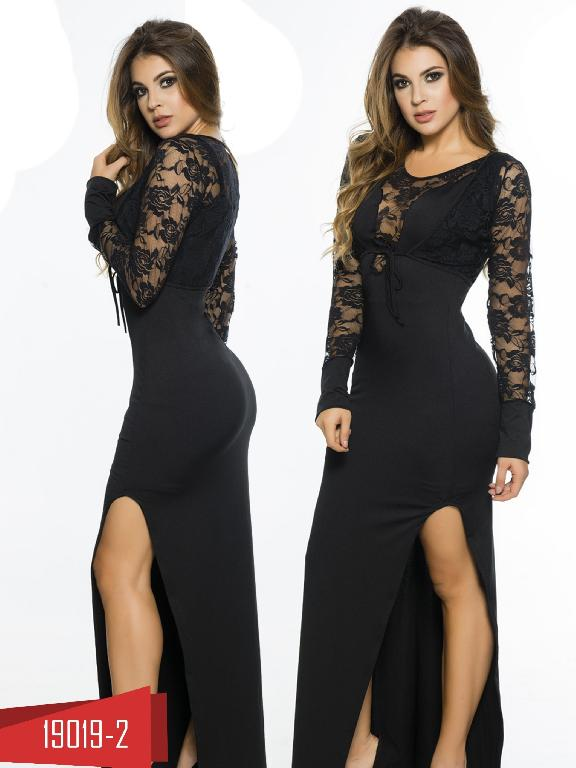 Vestido Moda Colombiano Cereza Negro - Ref. 111 -19019-2 Negro