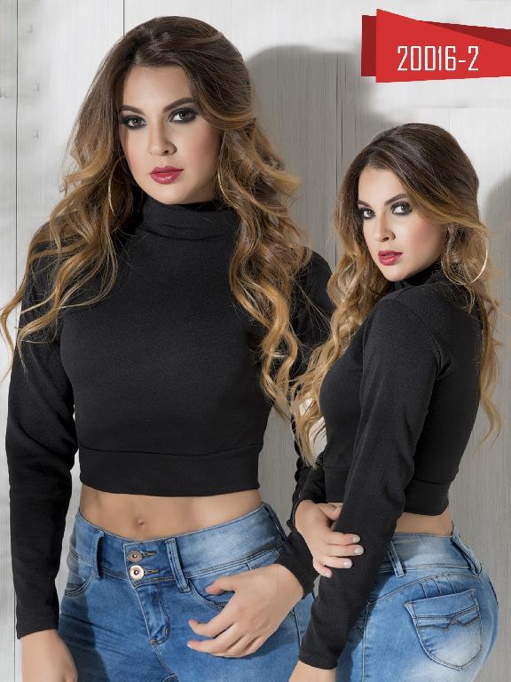 Blusa Moda Colombiana Cereza Negra - Ref. 111 -20016-2 Negro