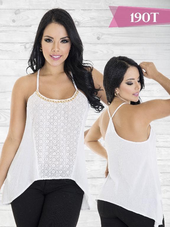 Blusa Moda Tabbachi Blanco