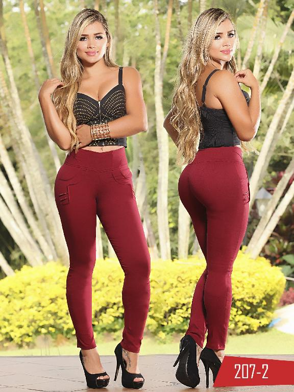 Pantalon Casual Comfort Thaxx - Ref. 119 -207 2 Vinotinto