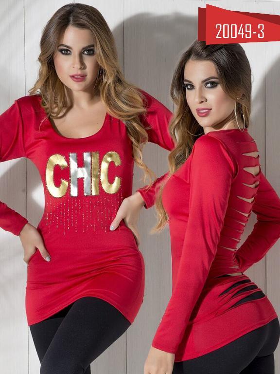 Bluson Moda Colombiana Cereza Rojo  - Ref. 111 -20049-3 Rojo