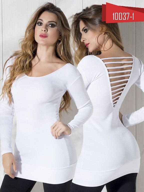 Bluson Moda Colombiana Cereza Blanco - Ref. 111 -10037-1 Blanco